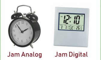 Jam analog dan jam digital