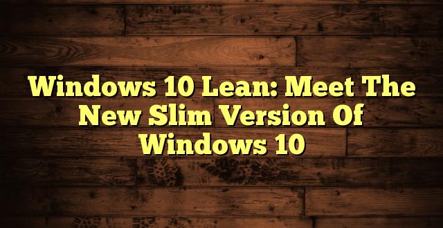 Windows-10-Lean