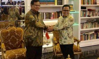 Prabowo-Subianto dan Ketua Umum PKB Muhaimind Iskandar
